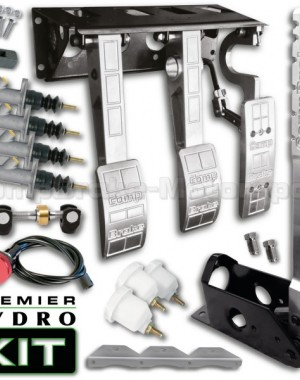 Premier Top Mounted Hydro Kit – Universal Hydraulic Pedal Box & 300mm Handbrake Kit