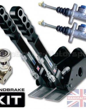300mm Dual Vertical Hydraulic Handbrake Kit – 2-Handle 2-AP Cylinder [Kit A]
