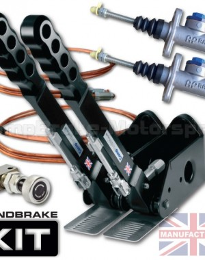 300mm Dual Vertical Hydraulic Handbrake Kit – 2-Handle 2-AP Cylinder [Kit C]