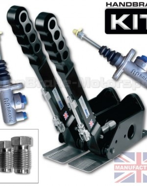300mm Dual Vertical Hydraulic Handbrake Kit – 2-Handle 2-AP Cylinder [Kit D]