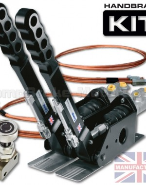 300mm Dual Vertical Hydraulic Handbrake Kit – 2-Handle 2-Cylinder [Kit C]