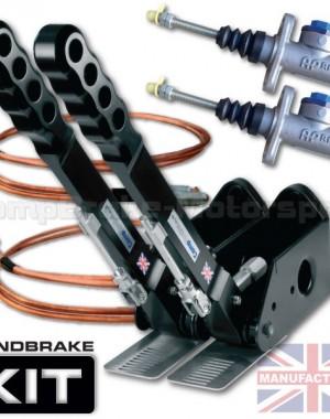 300mm Dual Vertical Hydraulic Handbrake Kit – 2-Handle 2-AP Cylinder [Kit B]