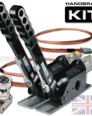 300mm Dual Vertical Hydraulic Handbrake Kit – 2-Handle 2-Cylinder [Kit C]