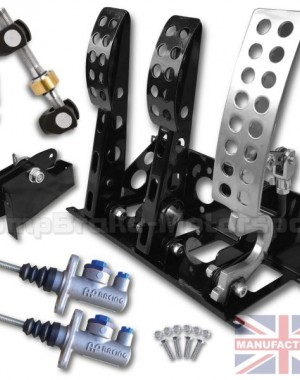 Universal Floor Mounted Cable Pedal Box Kit – Sportline 3-Pedal AP Cylinders [STD KIT]