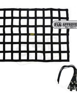 QSP Fönsternät inkl straps svart FIA