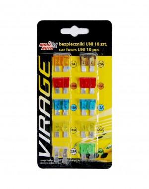 Universal flat fuse kit 10 pcs